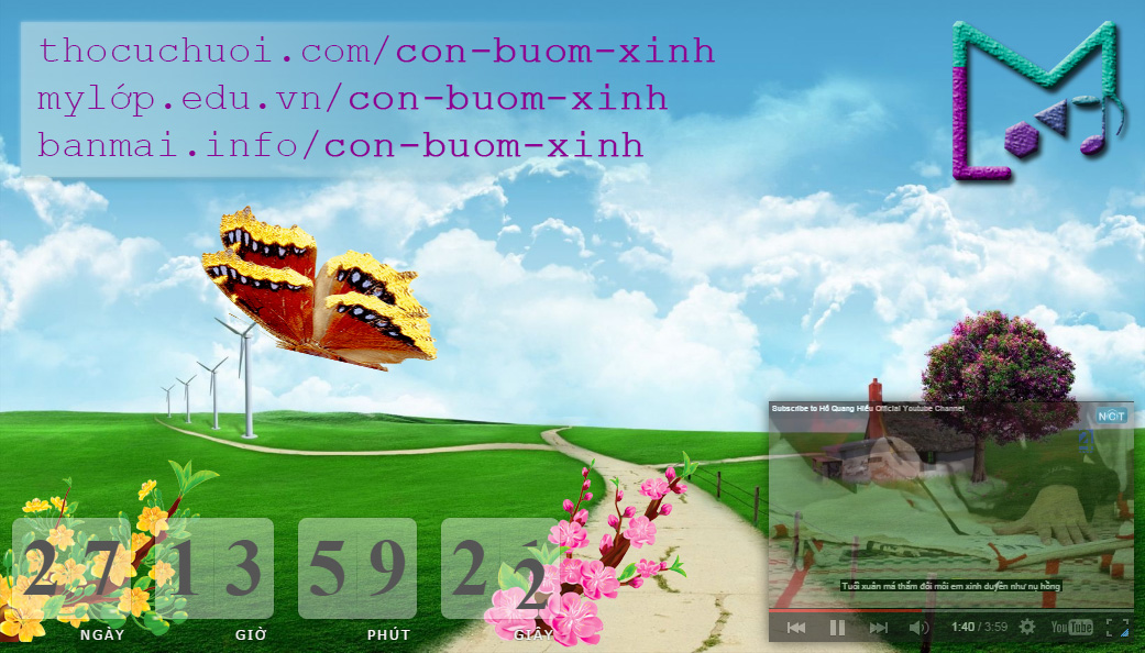 Con bướm xinh Web Screensaver - Con bướm xuân