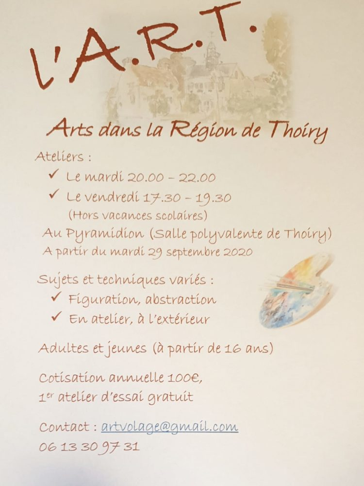 """début des activités de l'association """"Arts dans la Région de Thoiry """""""