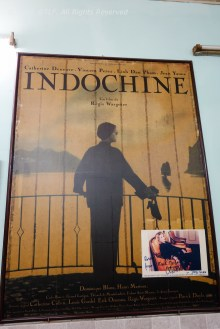 "Poster of ""Indochine"" film, with Catherine Deneuve as main actress"