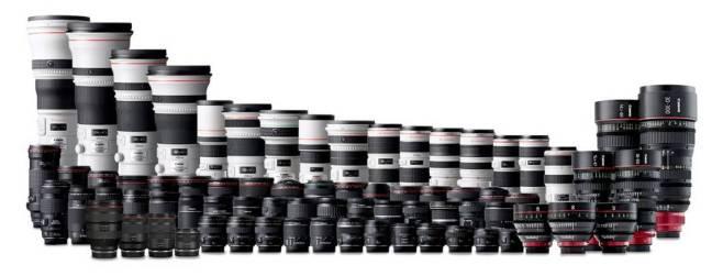 photo d'une gamme d'objectif