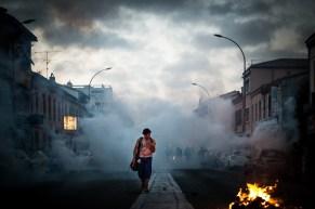 Affrontements entre police et manifestants le 22 novembre 2014 à Toulouse.