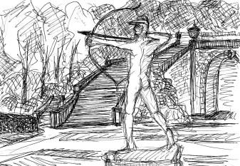 ArkadSk3 Sanssouci Gruener Bogenschuetze