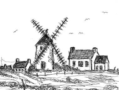 Bretagne11-Muehle von Pointe Croix