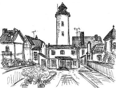 Bretagne21-Leuchtturm von Quiberon