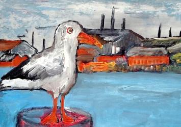 Daenemark21-Moewe im Hafen