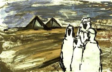 Egypt41-Beduinen in Saqqara
