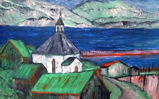 FAROE2-Kirche von Haldarsvik-Sundini1