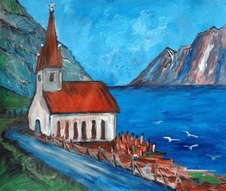 FAROE4-Kirche von Husar-Kalsoy1