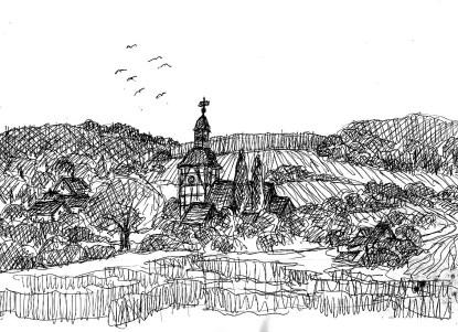FlaemSk24 Borne Blick aufs Dorf