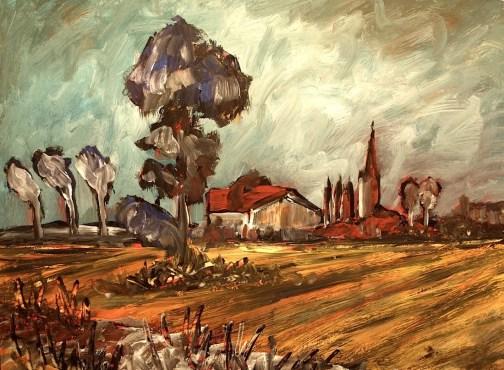 Flandern1-Landschaft bei Bruegge