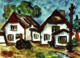 Hiddensee6_Weisse Haeuser in Neuendorf