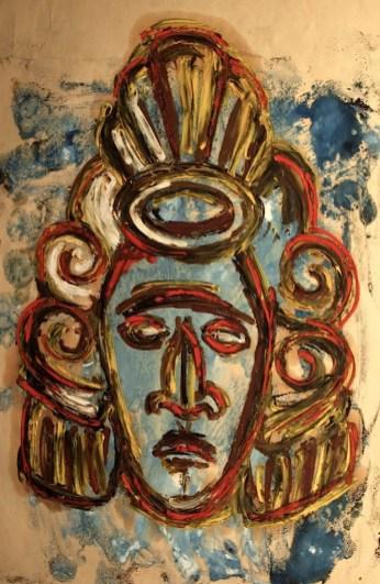 Honduras6-Maske eines Kriegers