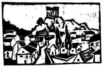 Maehren15-Mikulov-Kozi Hradek-Holzschnitt