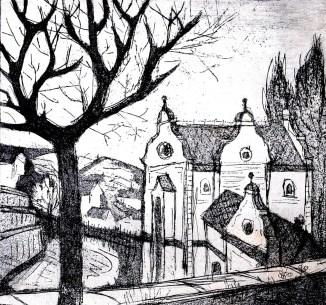 Maehren19-Mikulov-Synagoge-Aquatinta