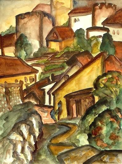 Maehren20-Mikulov-Blick zum Schloss1