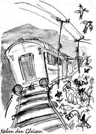 Neben den Gleisen