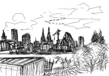 OderSk1 Frankfurt-Od Skyline der Stadt