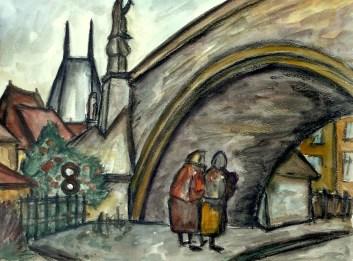 Prag12-Unter der Karlsbruecke