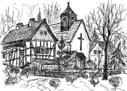 RuppinSk24 Neuglobsow-Kirche und Haeuser
