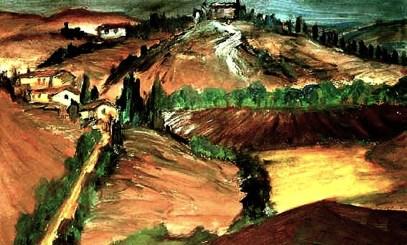 Toscana27-Landschaft in der Crete