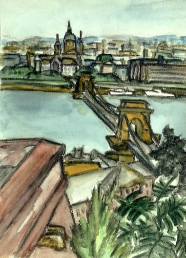 Ungarn5-Budapest-Blick zur Lanchid