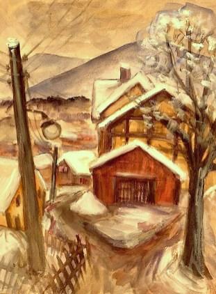 Viernau20-Wintertag Teucherts Scheune