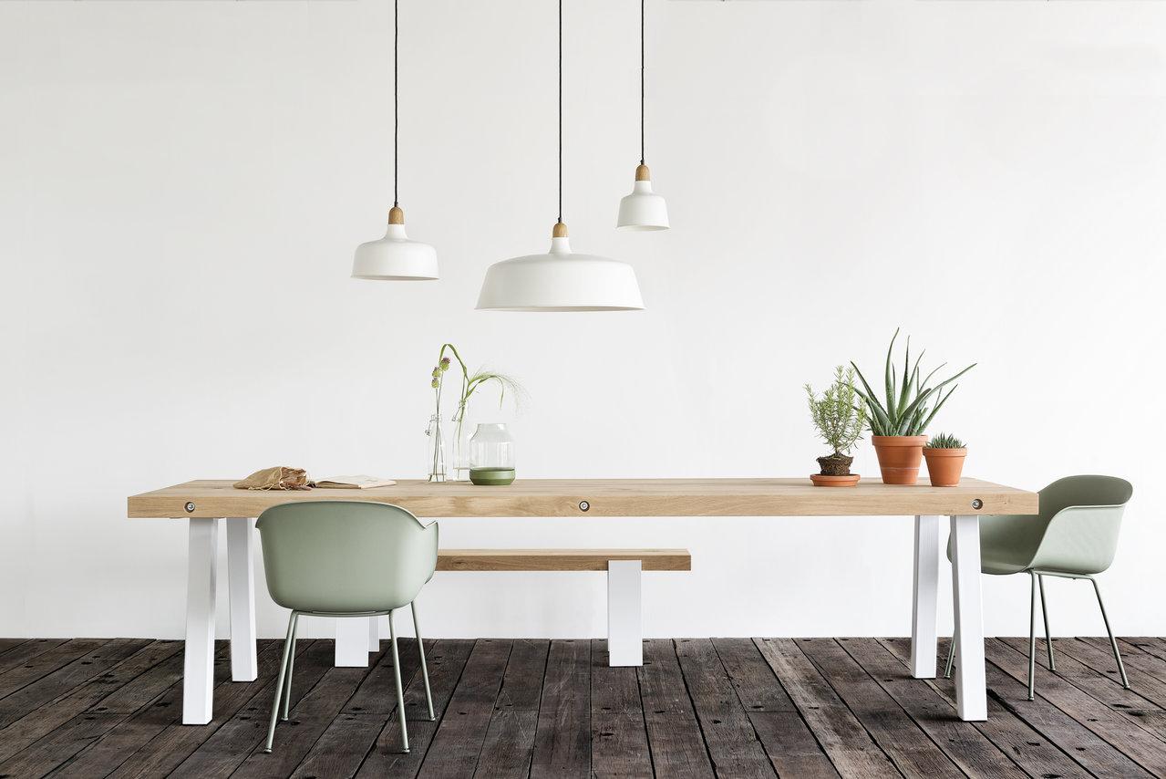 Eetkamertafel hout wit  TGWONEN