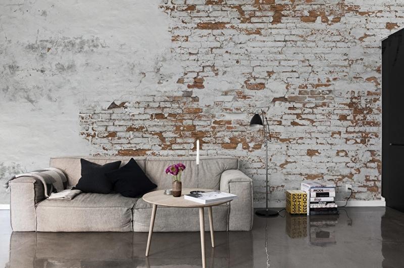 Oude bakstenen muur interieur  TGWONEN