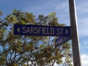 along sarsfield st