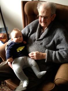 visiting Grandad Alec