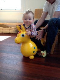 Riding my pony Rody
