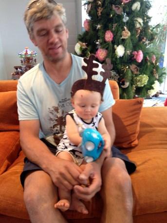 Riaan & Thomas as reindeer