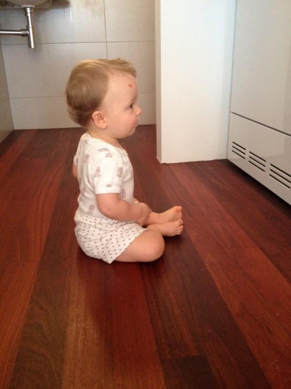 watching the washing machine