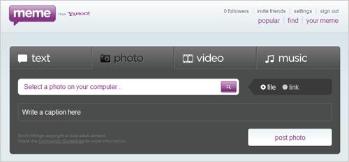 Yahoo! Meme Dashboard