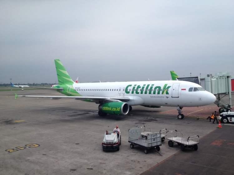 Citilink di Bandara Soekarno-Hatta (foto oleh Zamroni)
