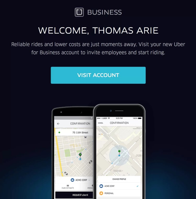 Welcome to Uber for Business
