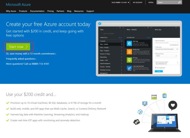 Create your free Azure account