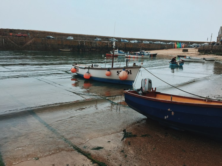 Boats In Water at Mousehole Port, Cornwall