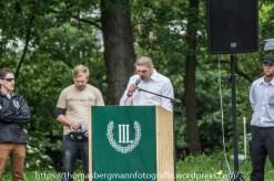 """Redner: Roy Asmuß - Die rechtsextreme Partei """"Der dritte Weg"""" hielt am Samstag, den 11.06.2016 eine Kundgebung """"gegen die Asylflut"""" in Streisnach ab."""