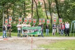 """Die rechtsextreme Partei """"Der dritte Weg"""" hielt am Samstag, den 11.06.2016 eine Kundgebung """"gegen die Asylflut"""" in Streisnach ab."""
