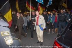 BIA Stadtrat Karl Richter beim Pegida München Aufmarsch