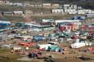 Aerial view of Iqaluit, Aug. 27, 2014. Photo: Thomas Rohner