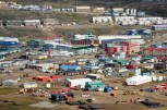 Aerial view of Iqaluit, Aug. 27, 2014. Photo: Thomas Rohner