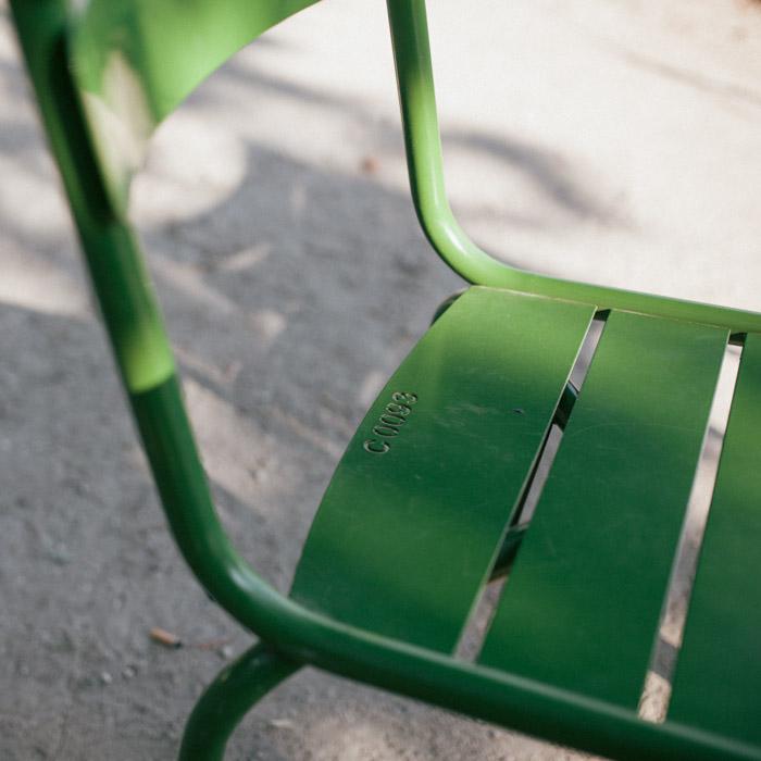 Projet 52 - Chaise du jardin des Tuileries