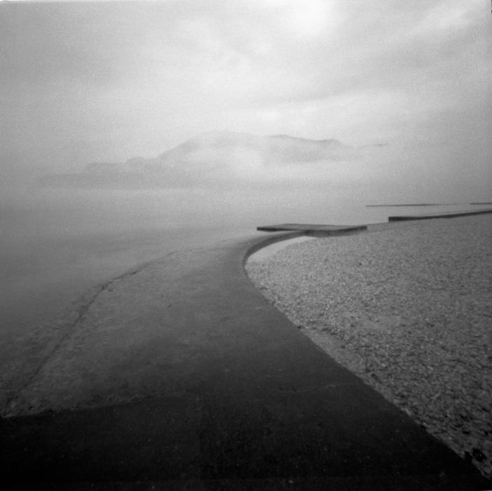 Sténopé sur les bords du lac d'Annecy