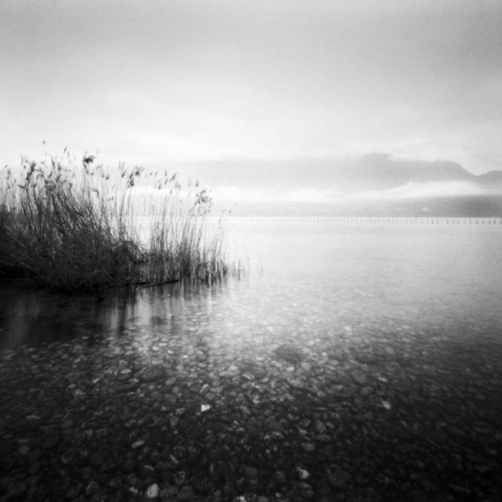 Sténopé sur les bords du lac du Bourget