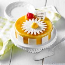 Fleur abricot-framboises