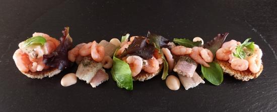 Makkelijke Kerst voorgerechten: paling met garnalen