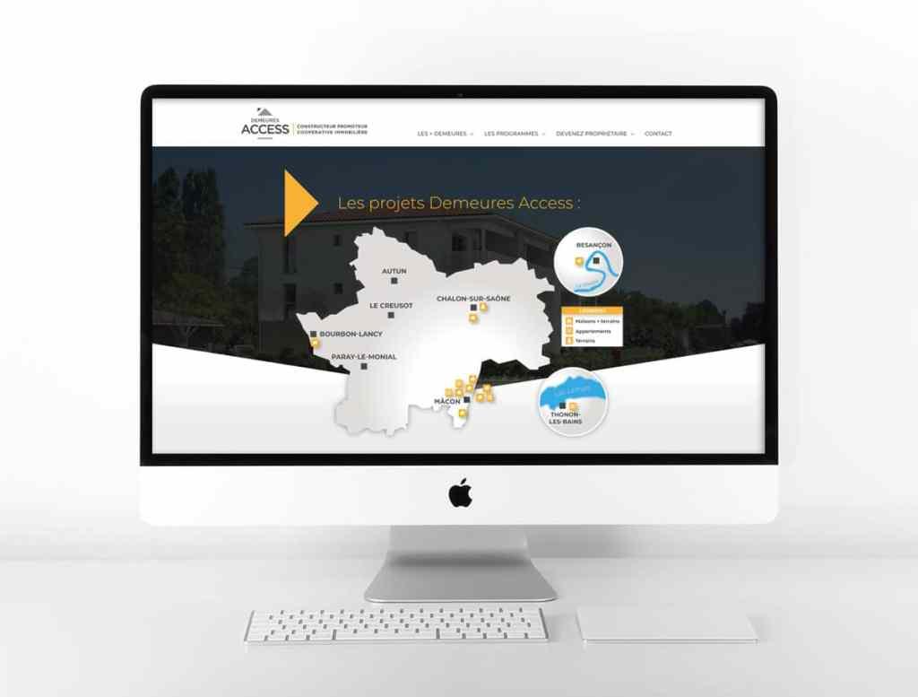 Création site web Demeures Access Mâcon