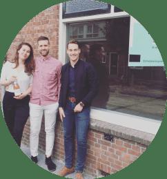 Foto met klanten Bram en Ieke kopie